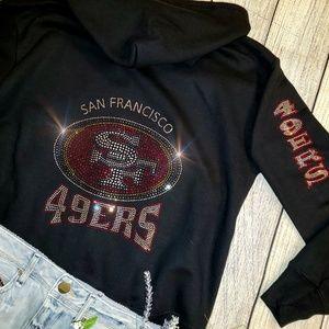 New San Francisco 49ers Zip Up Jacket Hoodie